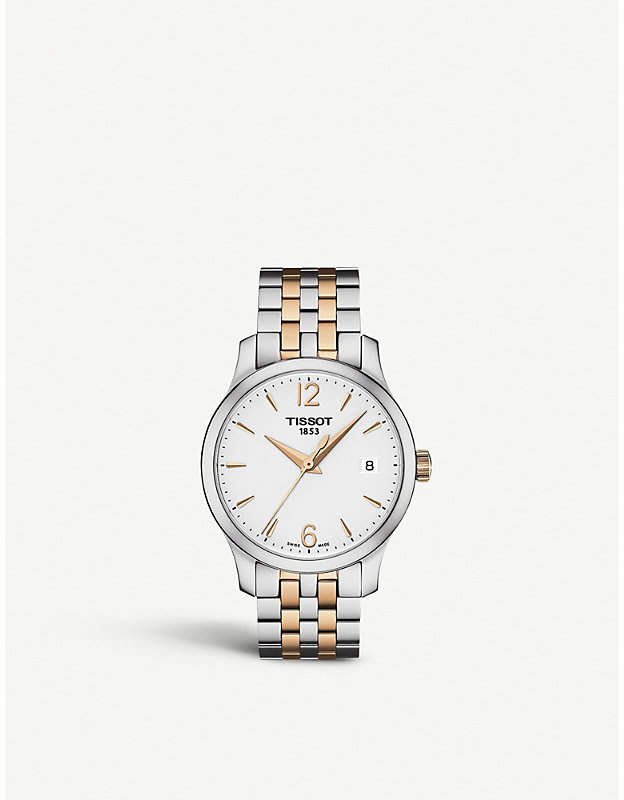 Tissot T063.210.22.037.01 Tradition stainless steel watch