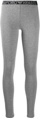 Emporio Armani Elasticated Logo Waistband Leggings