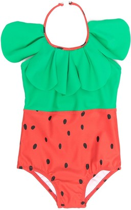Mini Rodini Strawberry-Print Swimsuit
