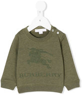 Burberry logo embroidered sweatshirt - kids - Cotton - 9 mth