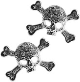 Vivienne Westwood Skull Stud Earrings Silver