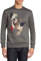 Neil Barrett Modernist Owl Graphic Sweater