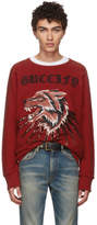 Gucci Red Wolf and Rays Sweatshirt