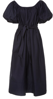 Co Belted Cotton-Jersey Midi Dress