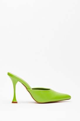 Nasty Gal Womens You've Made Your Point Stiletto Heels - Chartreuse
