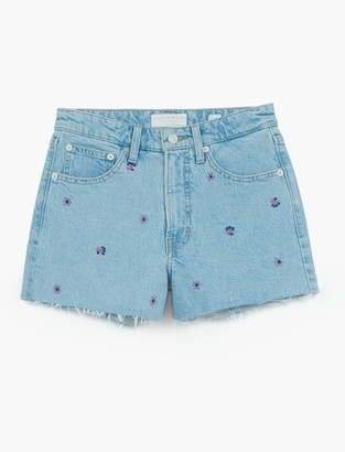Lucky Brand Lucky Pins Jean Short With Embroidery