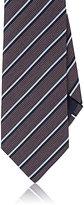 Ermenegildo Zegna Men's Double-Striped Jacquard Necktie-BURGUNDY