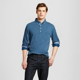 Merona Men's Long Sleeve Blue Polka Dot Shirt
