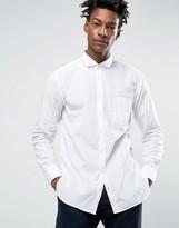 BOSS ORANGE by Hugo Boss Poplin Shirt Slim Fit in White