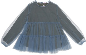 Il Gufo Jersey and tulle top