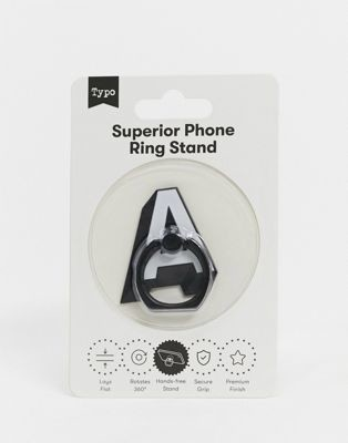 Typo phone ring in metal letter a