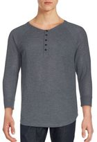 Joe's Jeans Long Sleeve Solid Henley Top