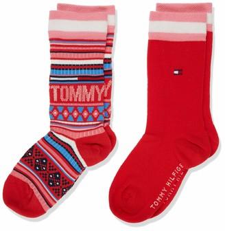 Tommy Hilfiger Boys' TH KIDS SOCK 2P MULTI COLOR