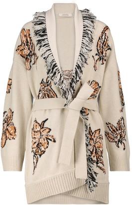 Dorothee Schumacher Floral Attraction intarsia wool-blend cardigan