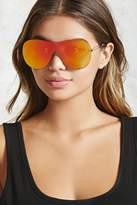 Forever 21 Mirrored Shield Sunglasses