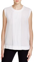 DKNY Pure Sleeveless Front Placket Top