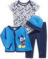 Nannette Baby Boys' 4-Pc. Mickey Mouse Hat, Jacket, Bodysuit & Pants Set