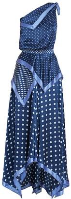Altuzarra Petrel Silk One-Shoulder Handkerchief Dress