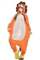 Newcosplay fleece adult Unisex Halloween Cosplay pajaas (, Brownonkey )