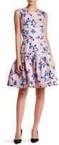 Oscar de la Renta Silk Sleeveless Flounce Hem Dress