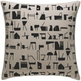 BECKTON Black and natural patterned cushion 45 x 45cm