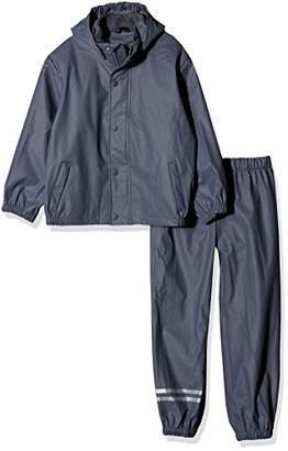 Mikk-Line Boy's PU Rainwear-Set Regenhose und Regenjacke Wassersäule 8000 Rain Jacket