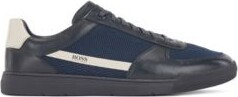 HUGO BOSS Low-top trainers in leather and mesh