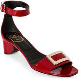 Roger Vivier Patent Leather Open Toe Sandals