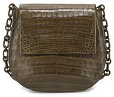Nancy Gonzalez Round Flap-Top Crocodile Crossbody Bag, Army Green