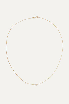 WWAKE Three Step 14-karat Gold Diamond Necklace