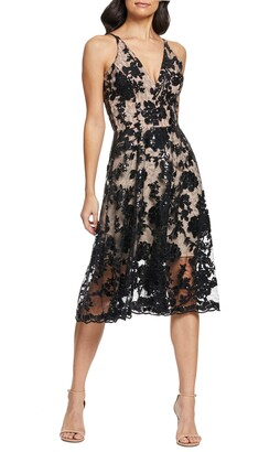 Dress the Population Maria Embellished Fit & Flare Dress