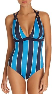 Mei L'ange Mya Striped One Piece Swimsuit