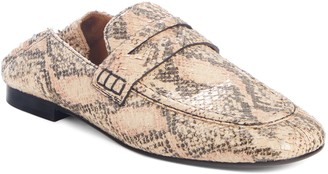 Isabel Marant Fezzy Snakeskin Embossed Convertible Loafer