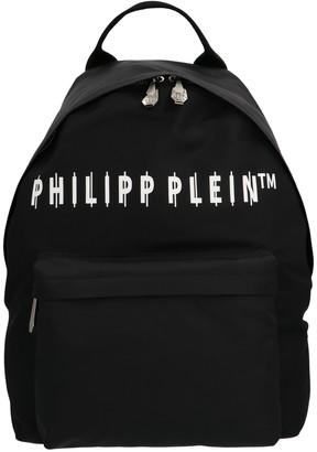 Philipp Plein Logo Zipped Backpack