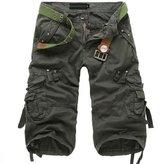 Win8Fong Men's Casual Military Style Combat Cargo Shorts Pants