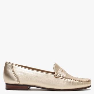 Daniel Glissa Gold Metallic Leather Loafers