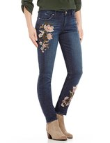 Miraclebody Jeans Perfect Boyfriend Floral Embroidered Jeans
