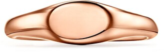 Tiffany & Co. micro oval signet ring in 18k rose gold, 6 mm wide