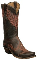 Lucchese Genuine Goatskin Leather Western Boot