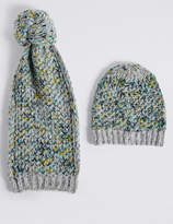 M&S Collection Honeycomb Scarf & Hat Set