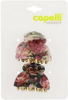 Ulta Capelli New York Laminated Flower Print Claw Clip 2 Ct