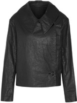 Lemaire Double-breasted coated cotton-blend twill jacket