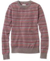 L.L. Bean Signature Merino Crewneck Sweater, Fair Isle