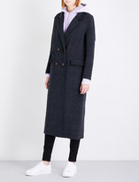 Ganni Driggs double-breasted wool-blend coat