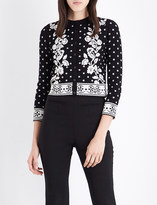 Alexander McQueen Jacquard knitted cardigan