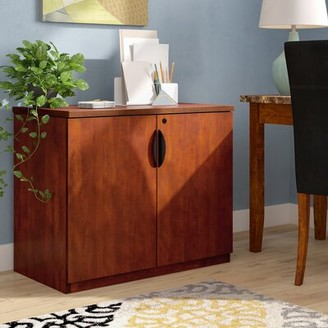 Latitude Run Linh 2 Door Credenza Latitude Run Finish: Cherry