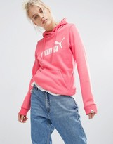 Puma Pullover Hoodie With Coral Logo