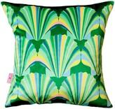 Chloé Croft Green Shell Deco Velvet Cushion