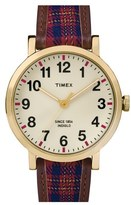 Timex 'Originals' Leather Strap Watch, 44mm
