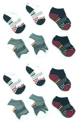 Athletic Works Boys Socks, 12 Pack No Show Half Cushioned, Sizes S-L